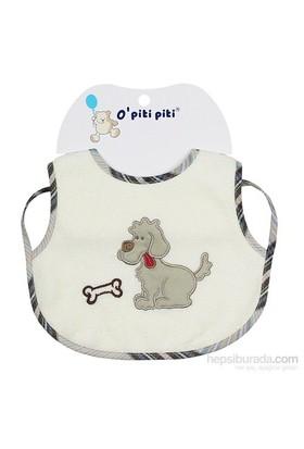 O Piti Piti Ekru Mama Önlüğü (Köpekli)