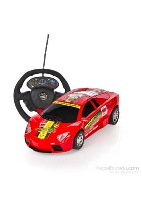 Can-Em Direksiyon Kumandalı Ve Şarjlı Süper Yarış Arabası - Kırmızı