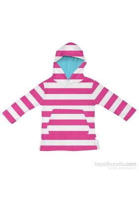 iplay Organik, Kapüşonlu Terry Sweat-shirt / White/ Pink Stripe