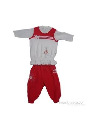 Bebiccino 2691 Süeterli 3Lü Bebek Takımı Kırmızı