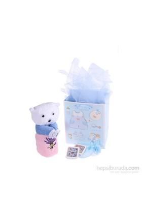 Miss Gaya Ayıcıklı Hediyelik Havlu Seti / Mavi