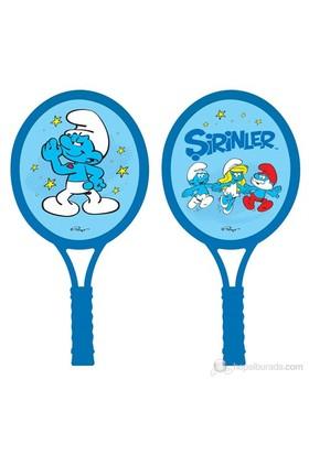 Şirinler Tenis Raketi / Mavi