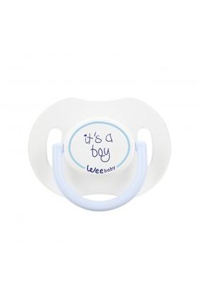 Wee Baby Saplı Kapaklı Emzik Damaklı 0-6 Ay / Mavi