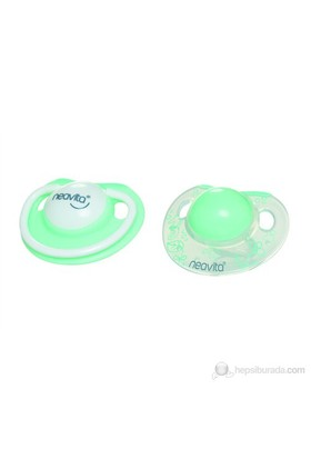 Neavita Ortodontik Silikon Gündüz ve Gece Emzik İkili (BPA%0) 3 Ay+ / Turkuaz
