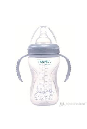 Neavita Geniş Ağızlı Silikon Kulplu PP Biberon 240 Ml (BPA%0) 3 Ay+ / Mor