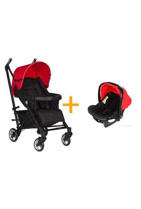 Soo Baby Litewings Seyahat Sistem Bebek Arabası / Rosso