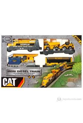 Cat Işıklı Iron Dıesel Küçük Tren Set