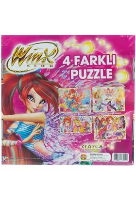 Winx 4'Lü Kutu Puzzle