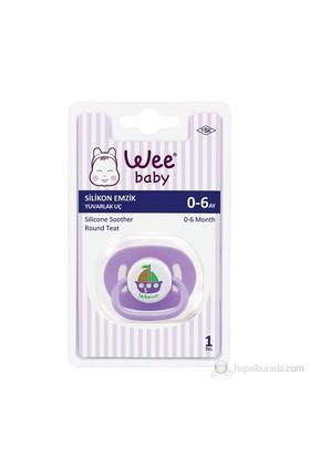 Wee Baby Baby Silikon Kiraz Uçlu Oval Gövdeli Emzik (Askılı) / 3'lü