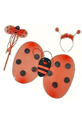 Pandoli Uğur Böceği Kostüm Seti Kanat Taç Asa