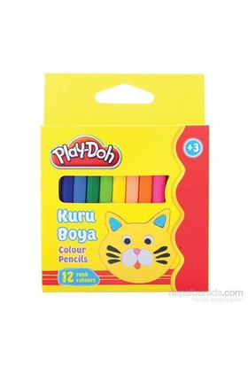 Play-Doh 12 Renk Kuru Boya Yarım Boy