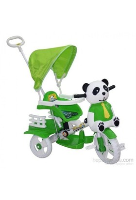 Baby Poufi Sevimli Panda Yeşil
