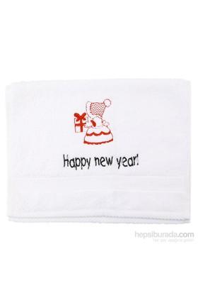 "Pompon Hediye Paketi "" Happy New Year"" Küçük El Havlusu"