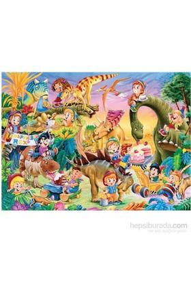 Keskin Color 150 Parça Kutulu Yapboz Dinazorlar Alemi