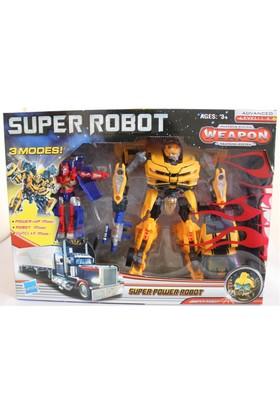 Super Robot 3 Adımda Dönüşebilen 2'Li Robot Seti