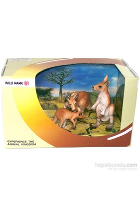 Cc Oyuncak Wild Park Kutuda Üç Parça Kanguru Ailesi