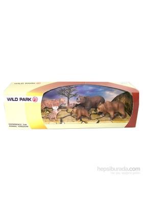 Cc Oyuncak Wild Park Kutuda Beş Parça Ayılar Ve Aslanlar