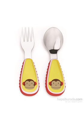 Skip Hop Çatal Kaşık Seti Maymun