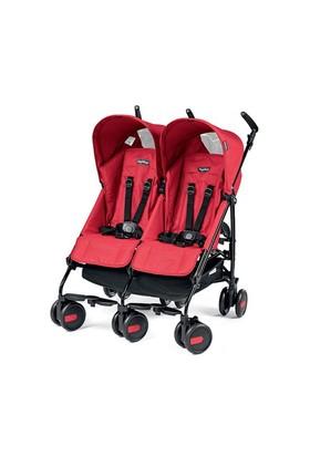 Peg Perego Pliko Mini İkiz Bebek Arabası - Kırmızı