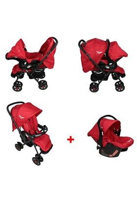 Mcrae Mc 5010T Royalty Travel Alüminyum Hafif Bebek Arabası - Kırmızı