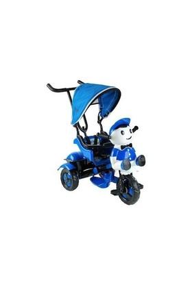 Babyhope 125 Yupi Pandaebeveyn Kontrollü Tenteli Müzikli Tricycle Üç Teker Bisiklet -Mavi