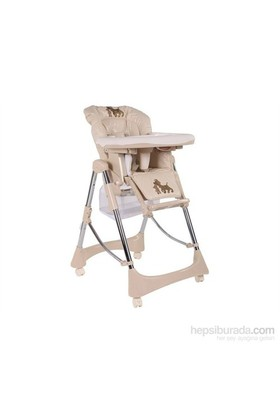 Babyhope Bh-7000 Stella Yüksek Ayarlı Sepetli Katlanır Mama Sandalyesi -Bej
