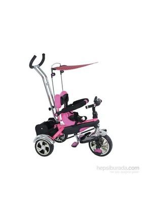Babyhope Bh-9500 Star Ebeveyn Kontrollü Şişme Eva Tekerlekli Tricycle Üç Teker Bisiklet Pembe
