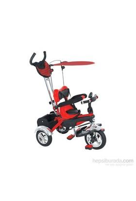 Babyhope Bh-9510 Star Ebeveyn Kontrollü Şişme Tekerlekli Tricycle Üç Teker Bisiklet Kırmızı