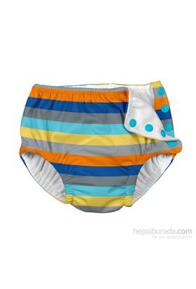 İ Play Upf 50+ Güneş Korumalı Sızdırmaz Çıtçıtlı Bebek Mayosu Mavi