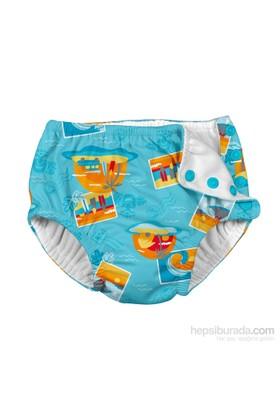 İ Play Upf 50+ Güneş Korumalı Sızdırmaz Çıtçıtlı Bebek Mayosu Turkuaz