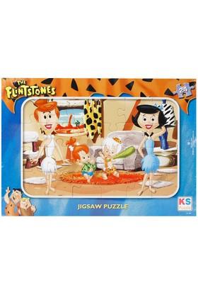 Ks 24 Parça Çocuk Puzzle Taş Devri