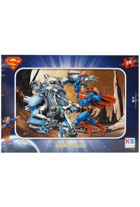 Ks 24 Parça Çocuk Puzzle Süperman