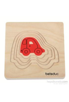 Beleduc Araba Katlı Puzzle 15X15 Cm