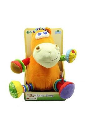 Baby Pony Çıngıraklı Diş Kaşıyıcılı Peluş At