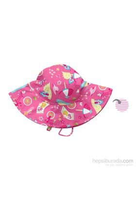 İ Play Upf 50+ Güneş Korumalı Brim Çift Yönlü Bebek Şapka Pembe