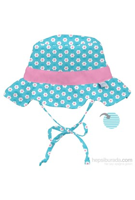 İ Play Upf 50+ Güneş Korumalı Çift Yönlü Ruffle Bucket Bebek Şapka Turkuaz
