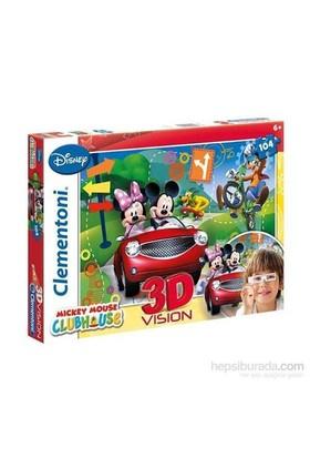 Clementoni 3 Boyutlu Çocuk Puzzle - Mickey Mouse 104 Parça