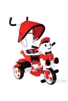 Babyhope 125 Yupi Panda Üç Tekerlekli Bisiklet / Kırmızı