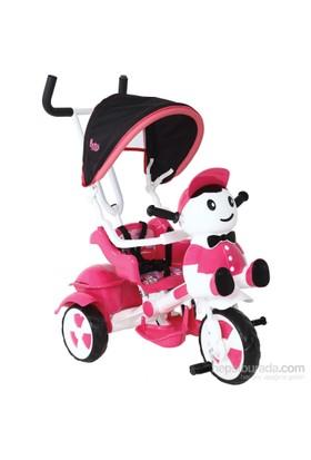 Babyhope 125 Yupi Panda Üç Tekerlekli Bisiklet / Pembe