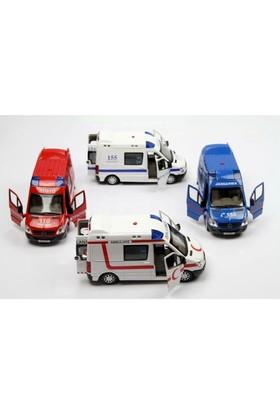 Vardem Sesli Işıklı Mercedes Sprinter Oyuncak Araba (Polis, Jandarma, Ambulans, İtfaiye)