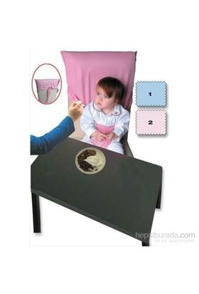 Sevi Bebe Kumaş Mama Sandalyesi - Lacivert Puanlı