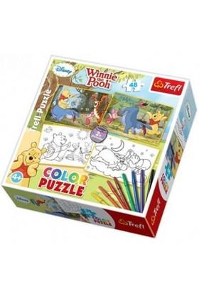 Trefl 48 Parça Boyamalı Puzzle Winnie The Pooh