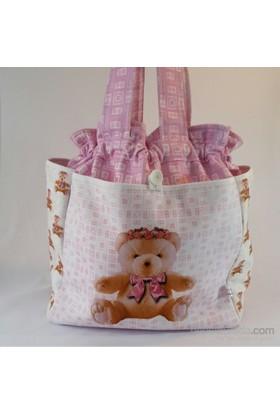 Zey Tasarım Bebek Bakım Çantası - Ayıcıklı