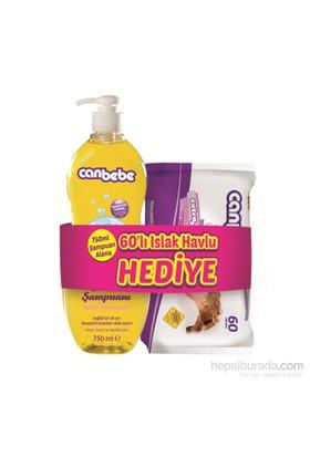 Canbebe Bebek Şampuanı / 750 ml + Islak Havlu