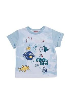Zeyland Erkek Çocuk Mavi Tshirt K-51Z661dns53