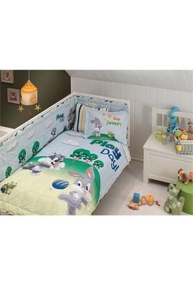 Taç Lisanslı Bebek Uyku Seti - Sylvester And Bugs Bunny Baby