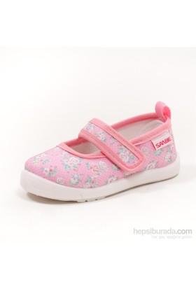 Sanbe Kız Çocuk Keten Babet Ayakkabı - 401 H 022 Pembe