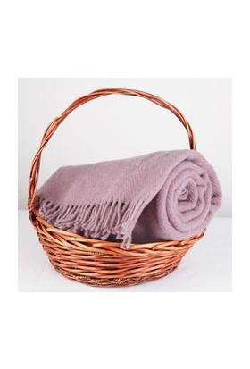 Mella Home Wool Battaniye-Lila