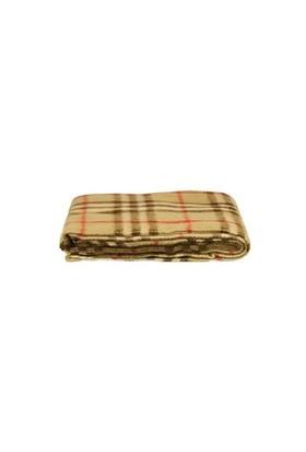 Mella Home Wool Bej-Kırmızı Ekoseli Koltuk Battaniyesi
