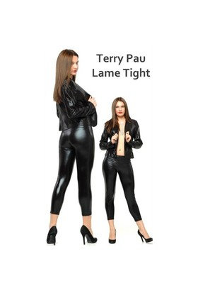 Terry Pau TP060101 Siyah Lame Tight